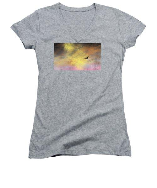 Abode Women's V-Neck T-Shirt
