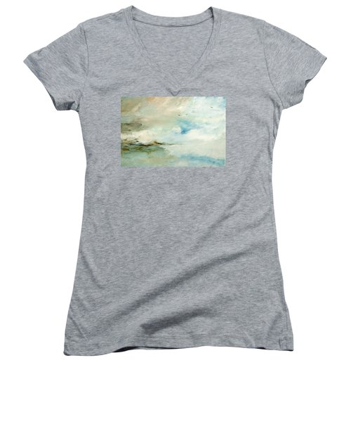 Above It All Women's V-Neck T-Shirt (Junior Cut) by Dina Dargo