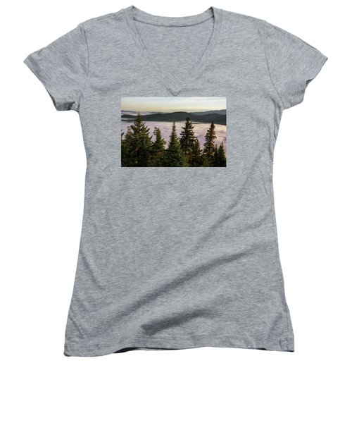 Above The Clouds Women's V-Neck