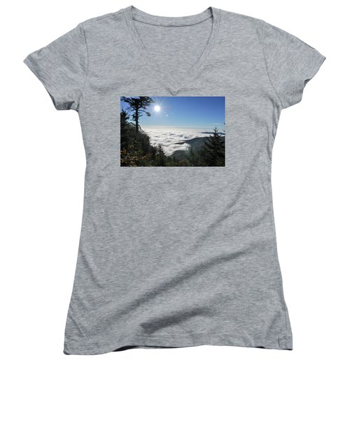 Above The Clouds Women's V-Neck (Athletic Fit)