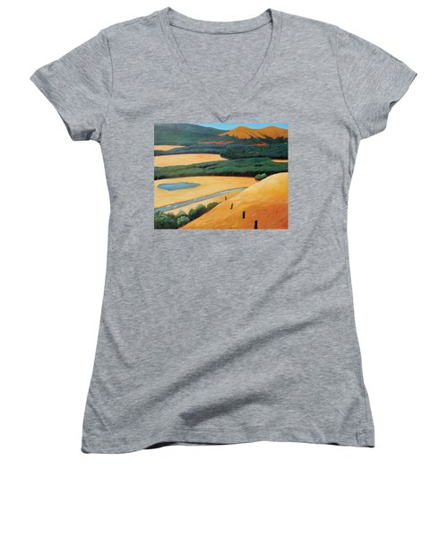 Above The Highway Women's V-Neck (Athletic Fit)
