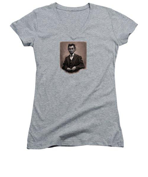 Abraham Lincoln Women's V-Neck (Athletic Fit)
