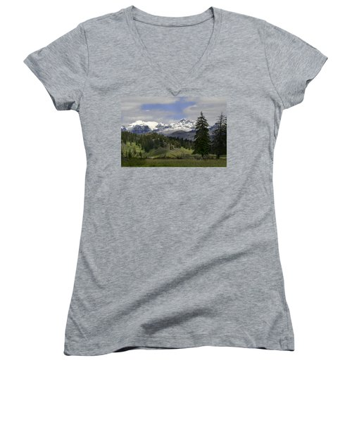 Absaroka Mts Wyoming Women's V-Neck T-Shirt