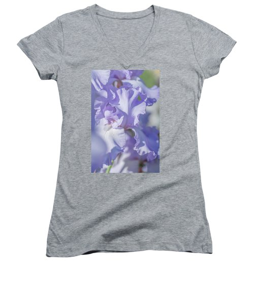 Absolute Treasure Closeup 2. The Beauty Of Irises Women's V-Neck