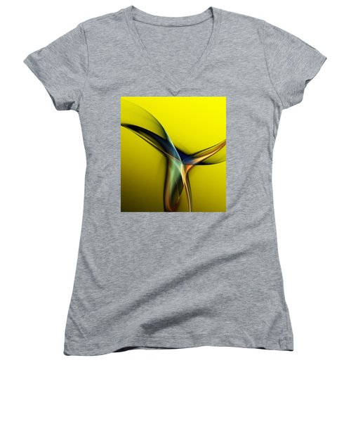 Abstract 060311 Women's V-Neck (Athletic Fit)