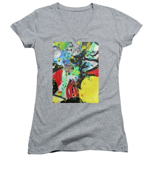 Abstract-1 Women's V-Neck