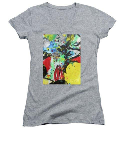 Abstract-1 Women's V-Neck