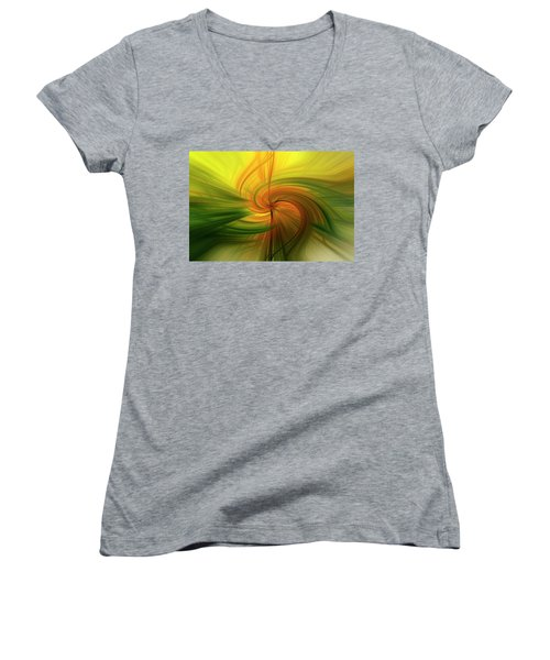 Abstract 12 Women's V-Neck