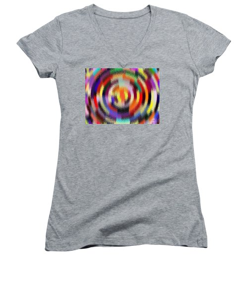 Abstract 120116 Women's V-Neck T-Shirt (Junior Cut) by Maciek Froncisz