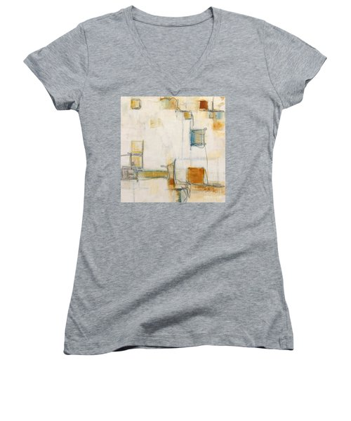Abstract 1207 Women's V-Neck T-Shirt (Junior Cut) by Gallery Messina