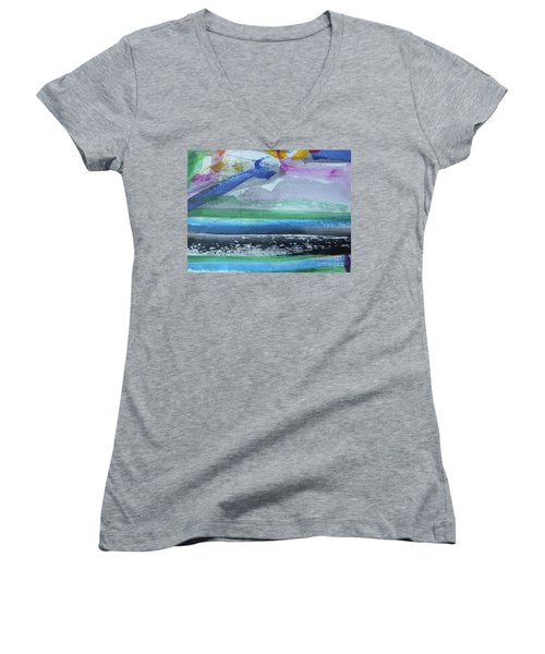 Abstract-18 Women's V-Neck