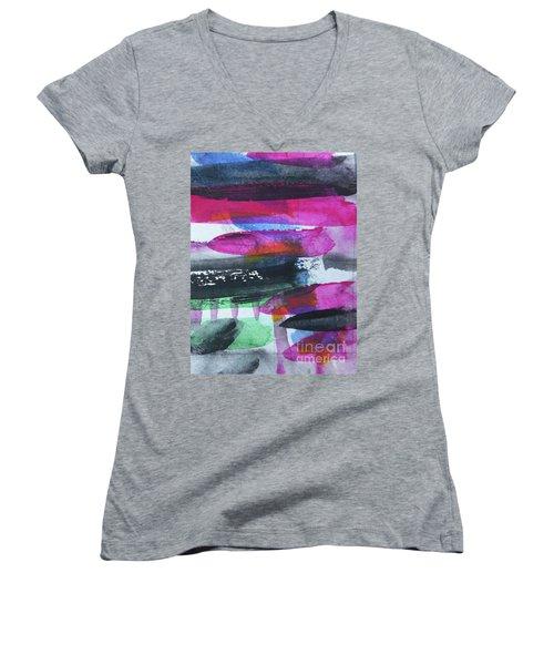 Abstract-19 Women's V-Neck