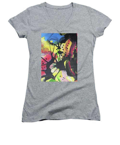 Abstract-2 Women's V-Neck