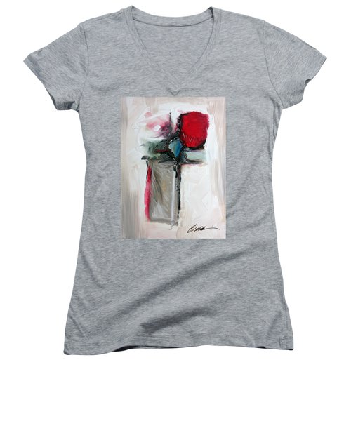 Abstract 200709 Women's V-Neck (Athletic Fit)