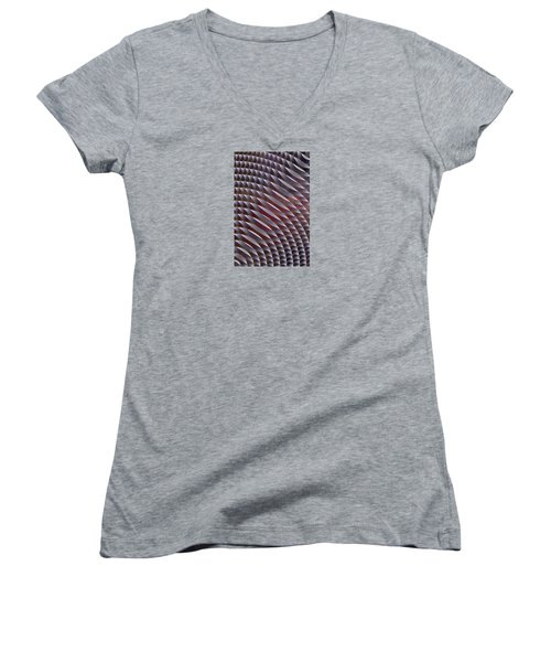 Abstract 33017-1 Women's V-Neck T-Shirt