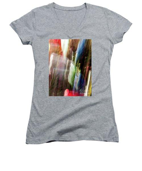 Abstract-4 Women's V-Neck
