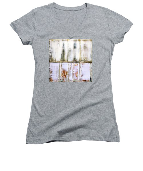 Art Print Abstract 79 Women's V-Neck (Athletic Fit)