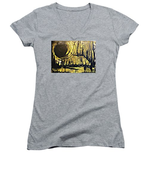 Abstract 8 Women's V-Neck