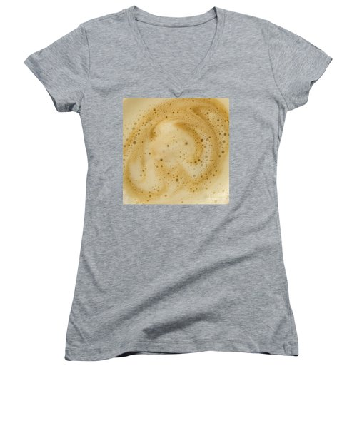 Abstract Coffee Women's V-Neck T-Shirt (Junior Cut) by Brian Roscorla