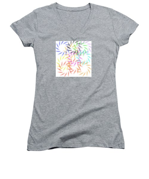 Abstract Fireworks Women's V-Neck T-Shirt