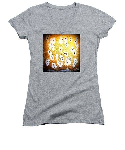 Bling Abstract Gold 1 Women's V-Neck (Athletic Fit)