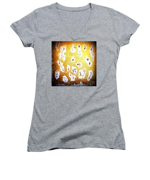 Bling Abstract Gold 1 Women's V-Neck T-Shirt