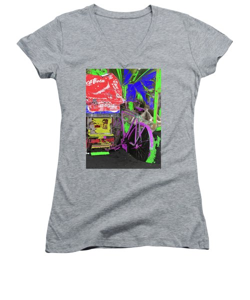 Abstract  Images Of Urban Landscape Series #3 Women's V-Neck
