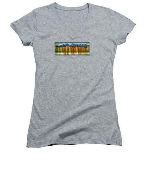 Junkyard Abstract Women's V-Neck T-Shirt