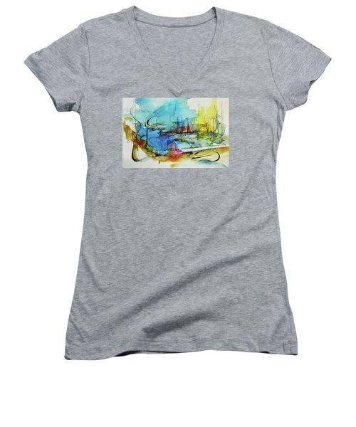 Abstract Landscape #1 Women's V-Neck