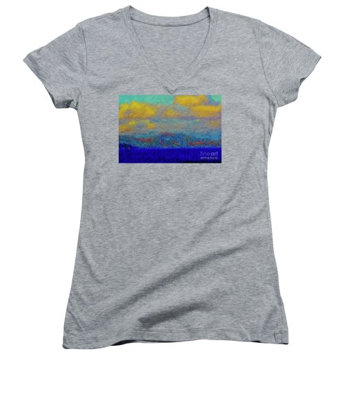 Abstract Landscape Expressions Women's V-Neck