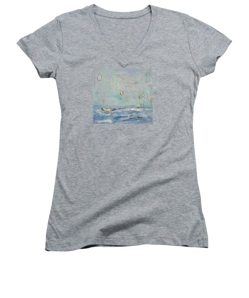 Abstract Landscape Women's V-Neck T-Shirt