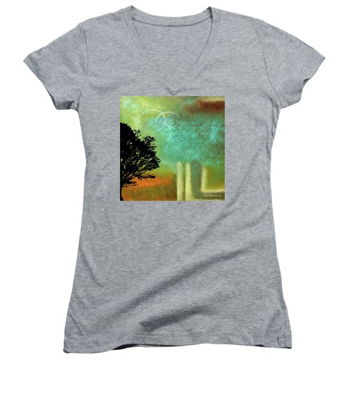 Abstract Modern Art Eternity Women's V-Neck (Athletic Fit)