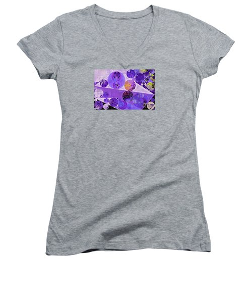 Abstract Painting - Blackcurrant Women's V-Neck (Athletic Fit)