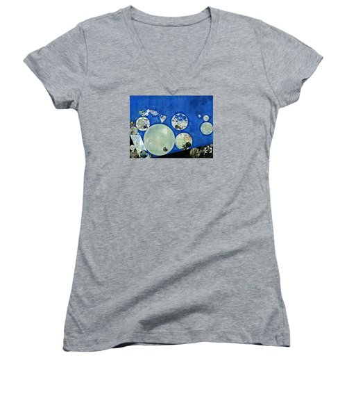 Abstract Painting - Rainee Women's V-Neck T-Shirt (Junior Cut) by Vitaliy Gladkiy