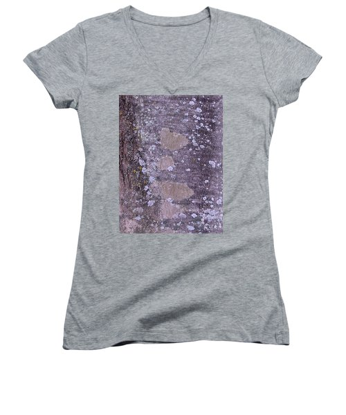 Abstract Photo 001 A Women's V-Neck T-Shirt (Junior Cut) by Larry Capra