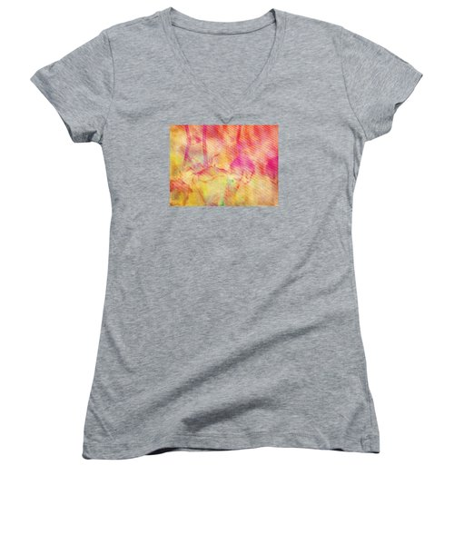 Abstract Photography 003-16 Women's V-Neck (Athletic Fit)