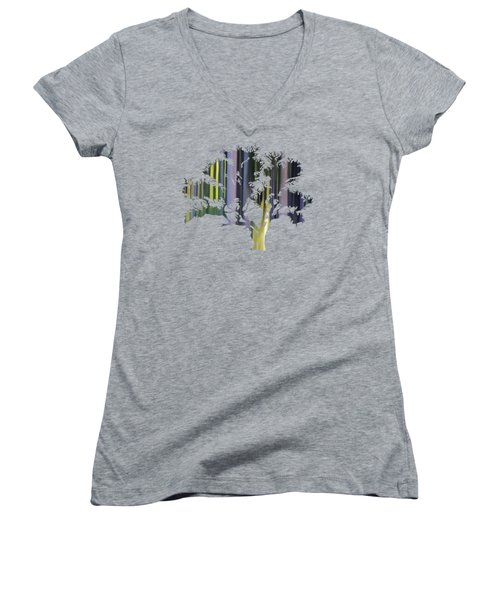 Abstract Tree Women's V-Neck T-Shirt