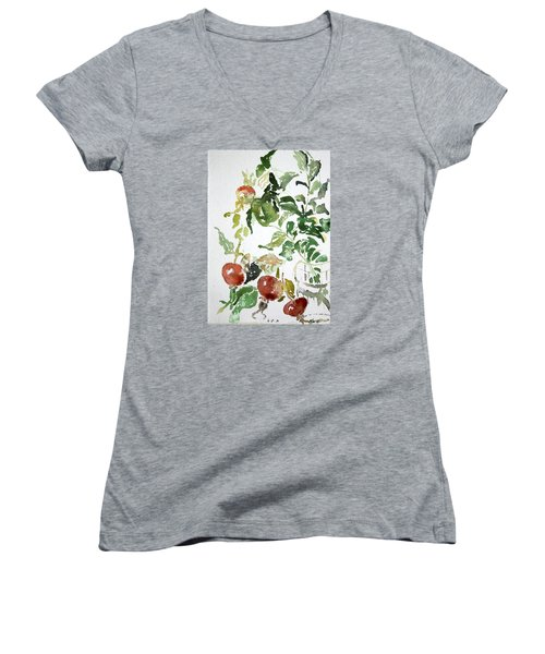 Abstract Vegetables Women's V-Neck (Athletic Fit)