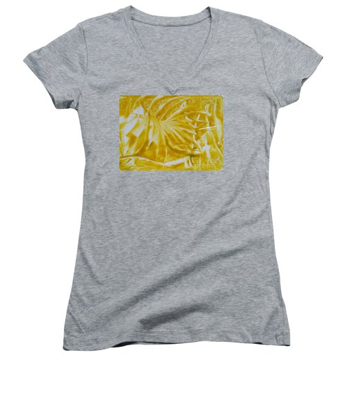 Abstract Yellow  Women's V-Neck