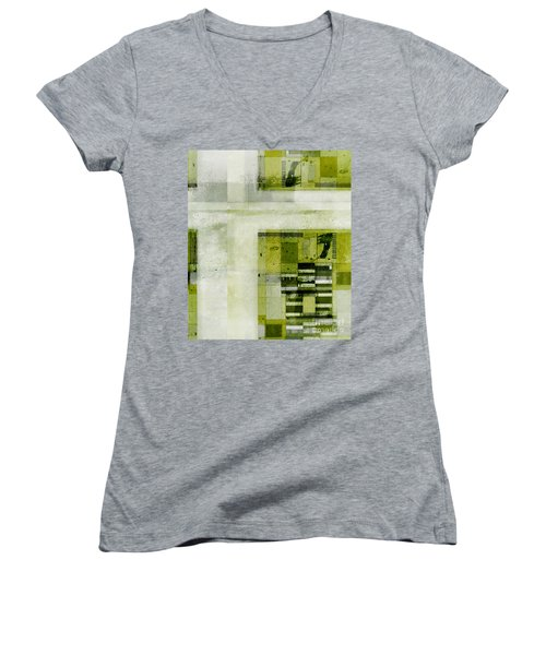 Women's V-Neck T-Shirt (Junior Cut) featuring the digital art Abstractitude - C4bv2 by Variance Collections