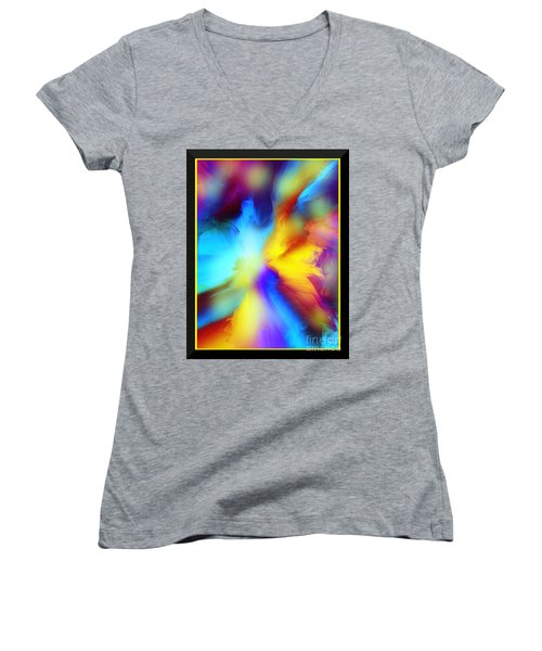 Celestial Rhythm Women's V-Neck T-Shirt