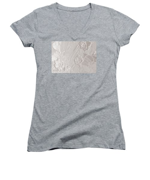 Accents Of Love Women's V-Neck T-Shirt (Junior Cut) by Jeanette C Landstrom
