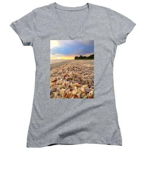 Women's V-Neck T-Shirt (Junior Cut) featuring the photograph Access 7 by Melanie Moraga