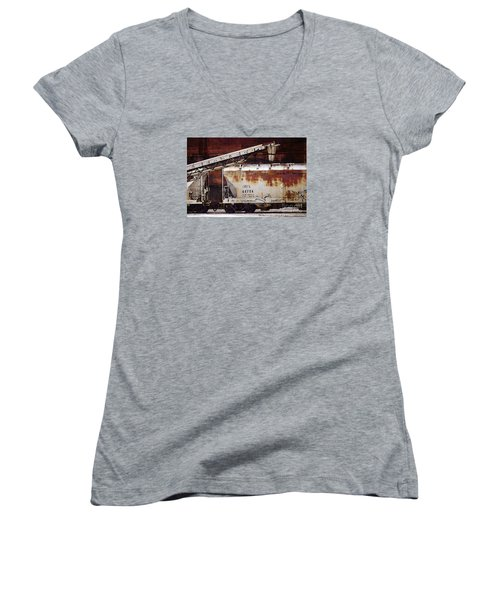 A C F X 44724 Women's V-Neck T-Shirt (Junior Cut) by David Blank