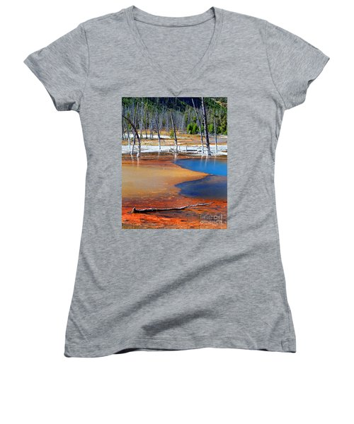 Acid Soup Yellowstone Women's V-Neck (Athletic Fit)
