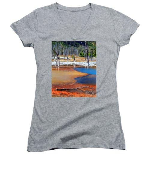 Acid Soup Yellowstone Women's V-Neck T-Shirt