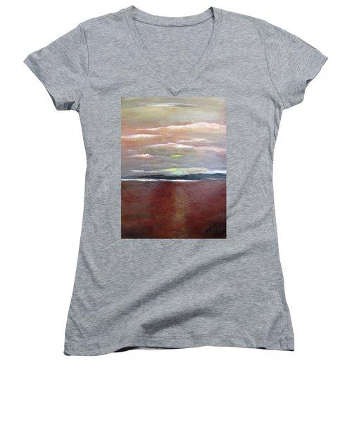 Across The Horizon Women's V-Neck T-Shirt