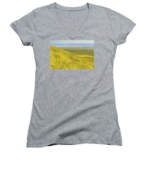 Women's V-Neck T-Shirt (Junior Cut) featuring the photograph Across The Plain by Marc Crumpler