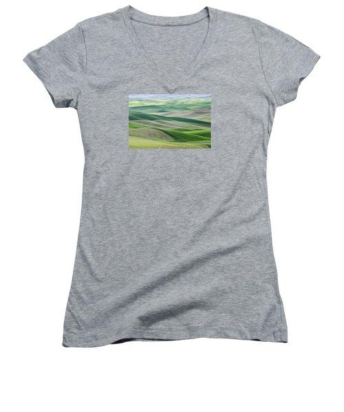 Across The Valley Women's V-Neck T-Shirt