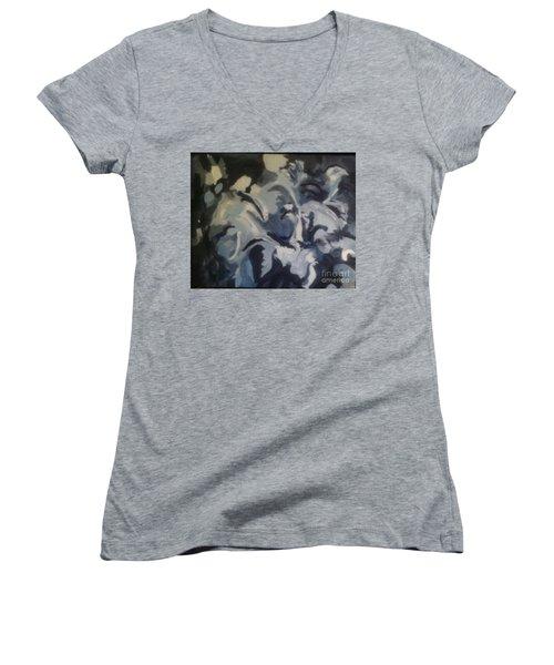 Acrylic Blues Women's V-Neck T-Shirt